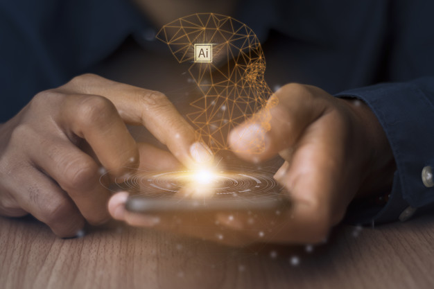 Artificial intelligence connects modern technology.