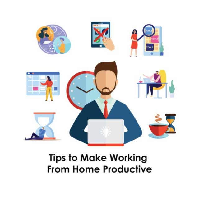 Infographic for work from home